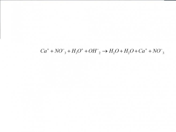 Neutralization Equation