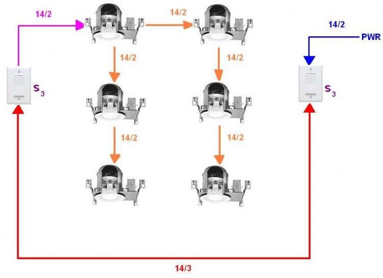 Wiring Multiple Recessed Lights 3 Way Switch - Wire Data Schema •