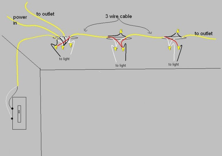 adding ceiling light to existing circuit