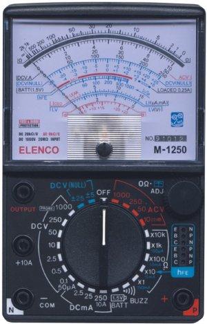 Electric symbols on voltohm meter