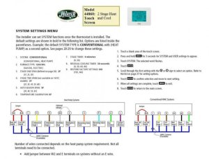 Heat Pump: Heat Pump Thermostat Wiring Diagram