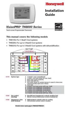 Wiring Thermostat Honeywell 8320U to Furnaceheat pump