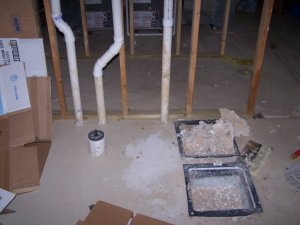 Basement Roughin plumbing