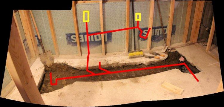 basement bathroom plumbing  delonho,