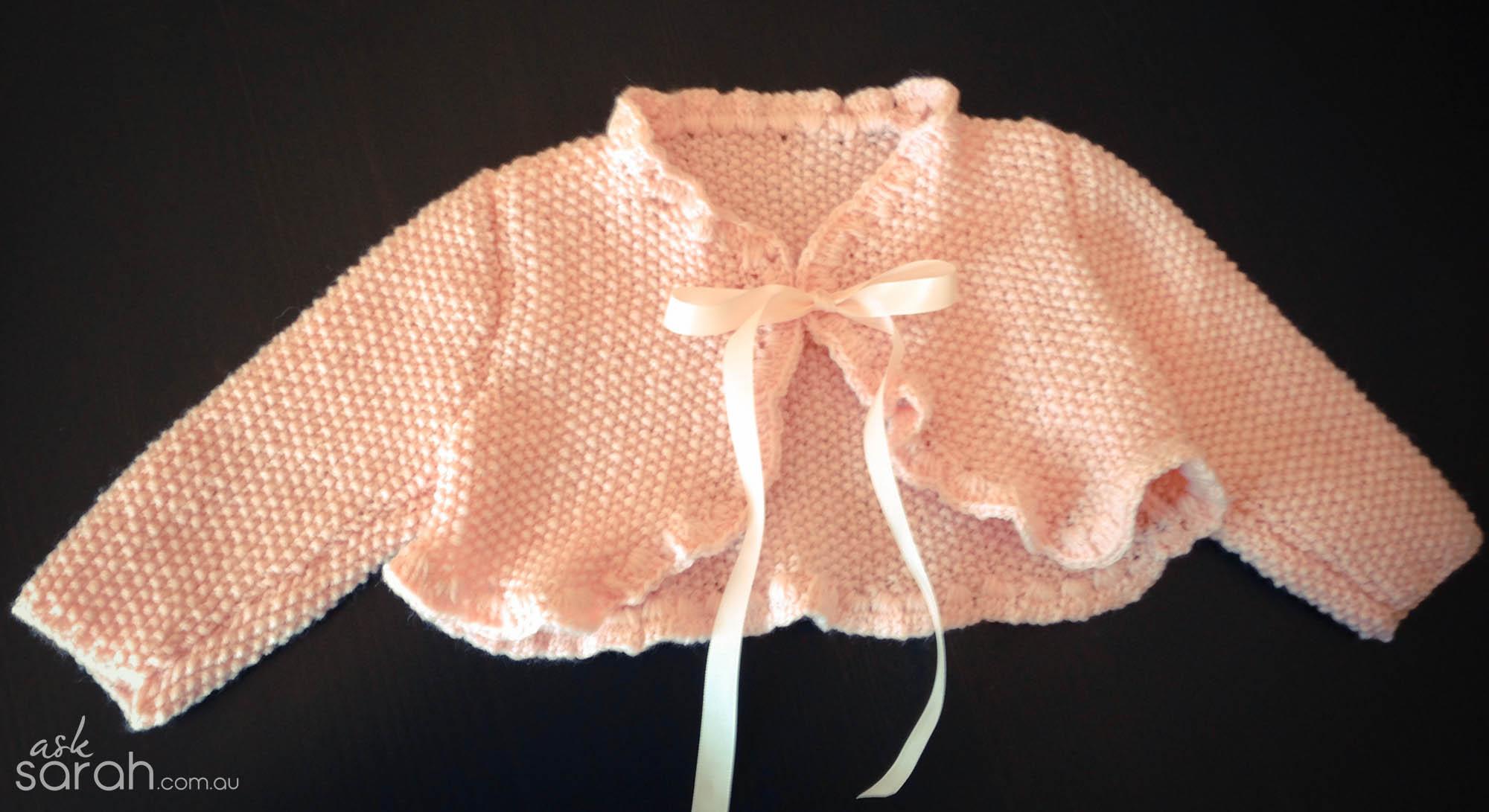 Craft: Knitted Baby Bolero Jacket