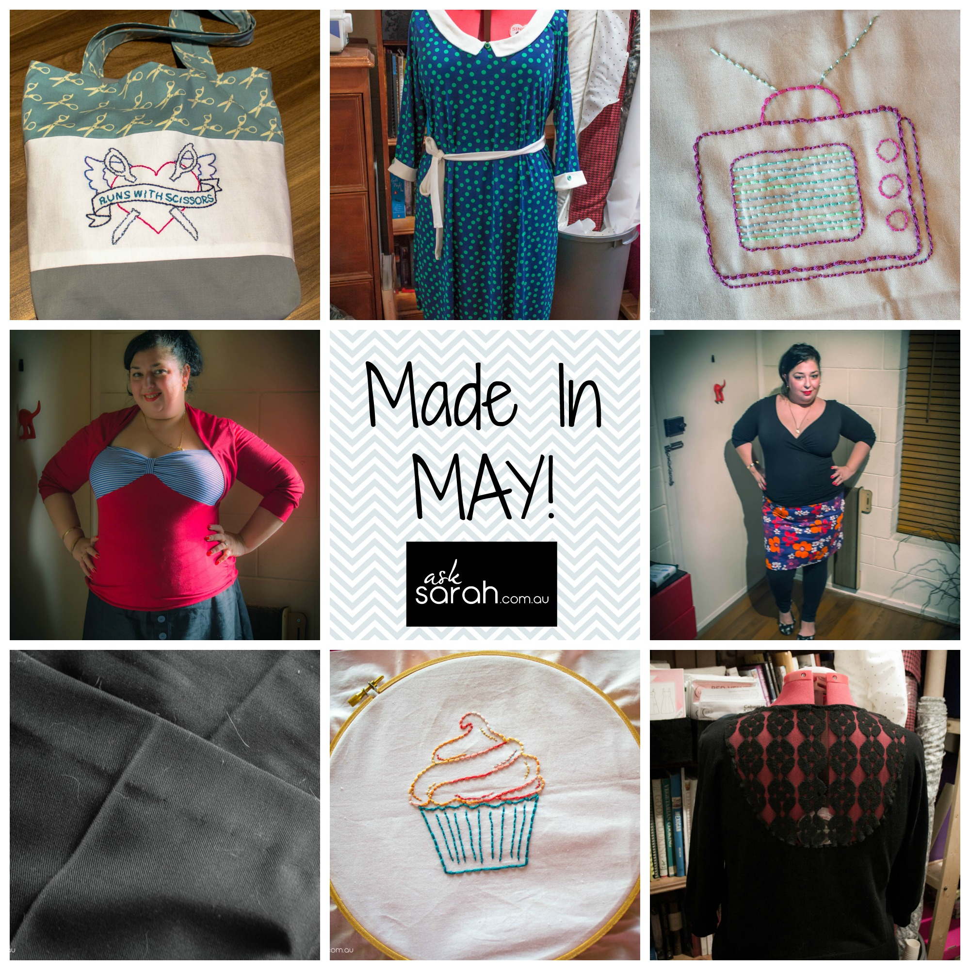 Made In May {MMM '14 Completed Sewing Projects}