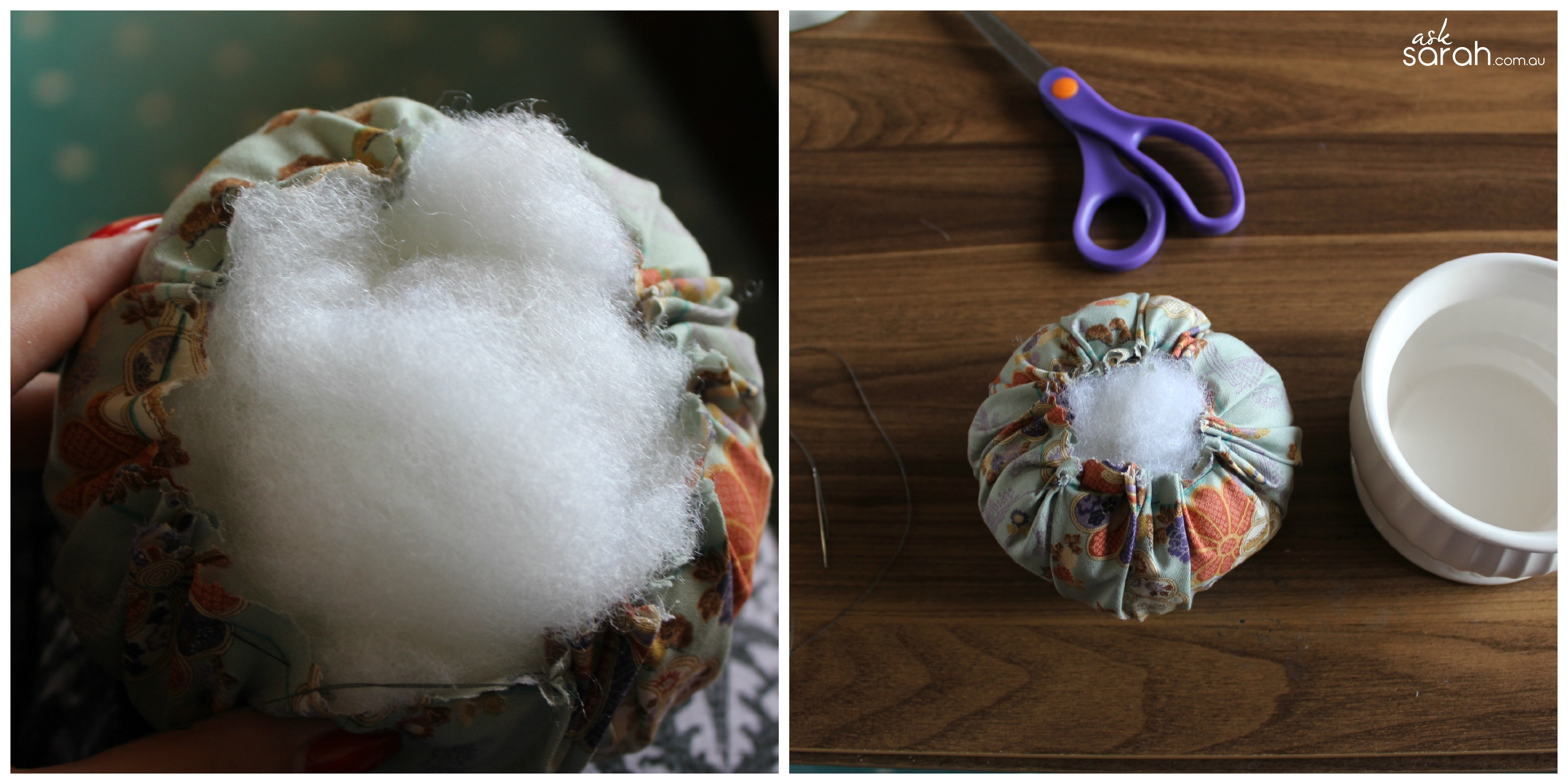 Teacup Pin Cushion Tutorial {Come & Say 'Hi' at the Sewing, Stitching & Handcraft Fair!}