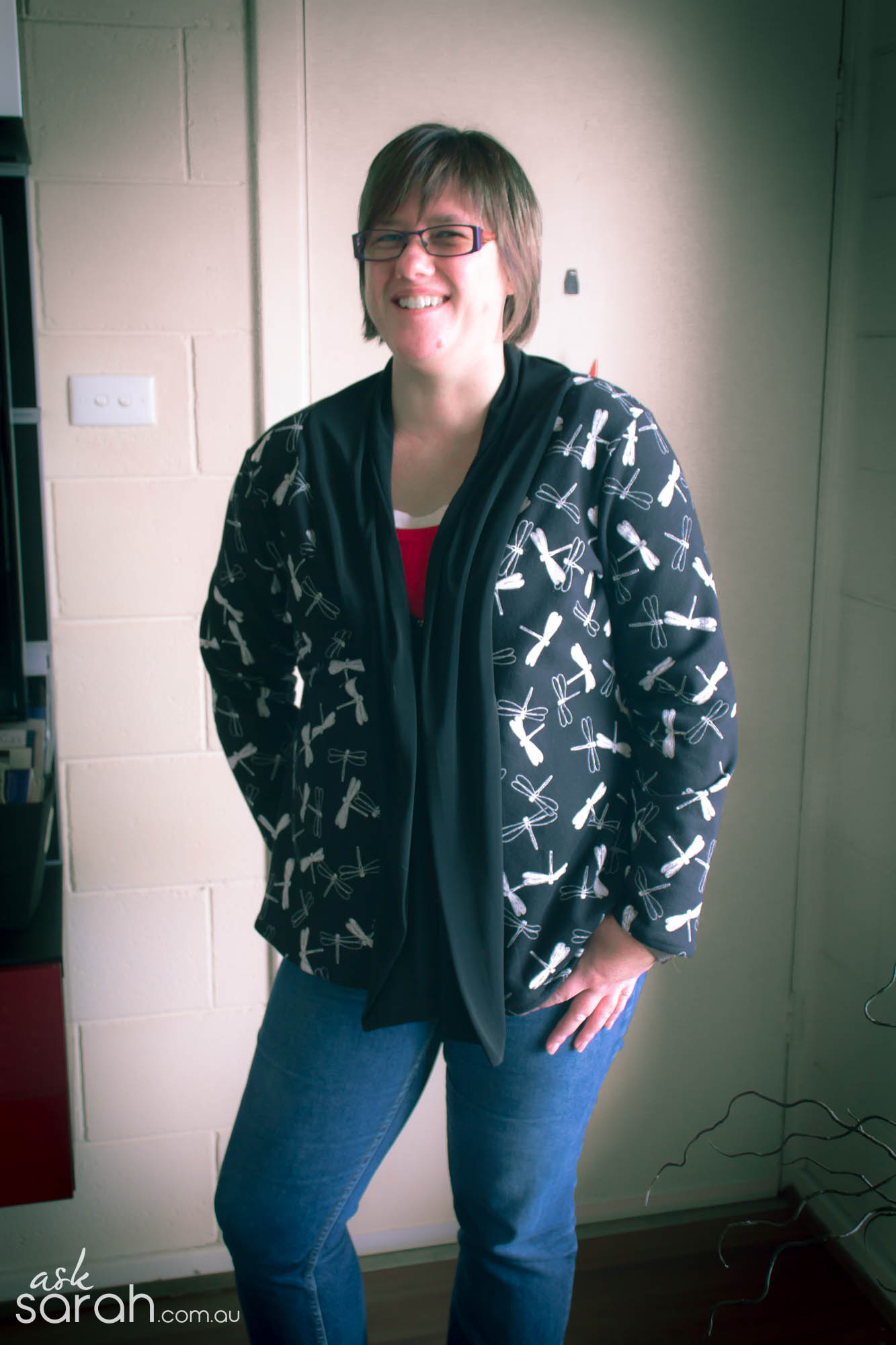 Sew: The BFF Cardi {Turn Any Tee Pattern into a Scarf Neck Cardigan}