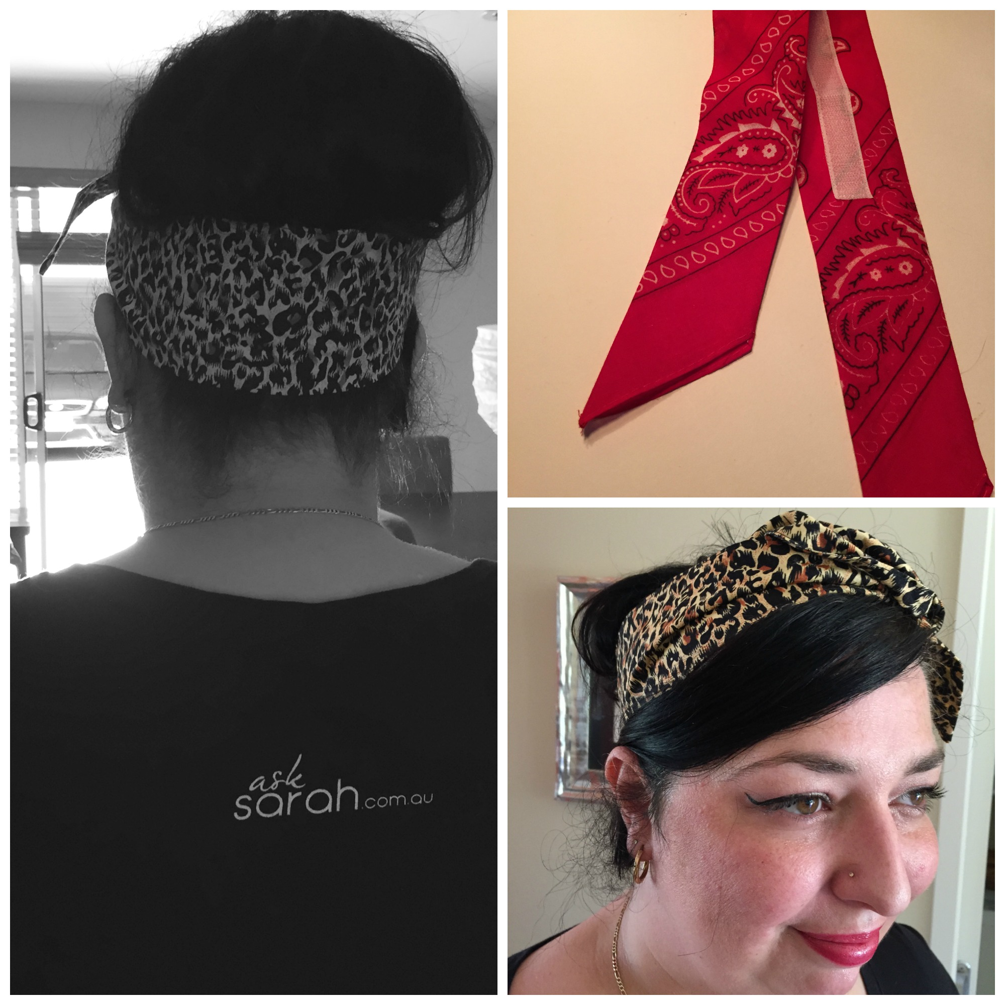 Sew: DIY No Slip Rockabilly Headscarves
