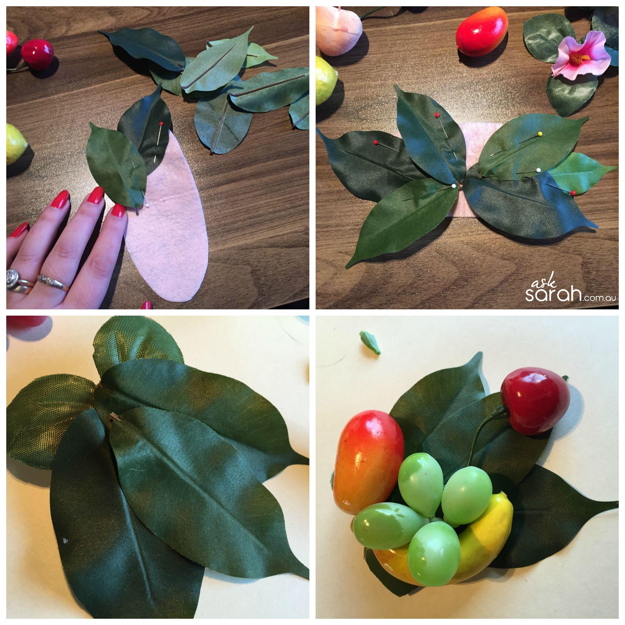 Craft: Carmen Miranda Fruits & Flowers Headband & Hair Pins {DIY Flowers & Fruity Goodness with a Retro/Vintage/Rockabilly Flair!}