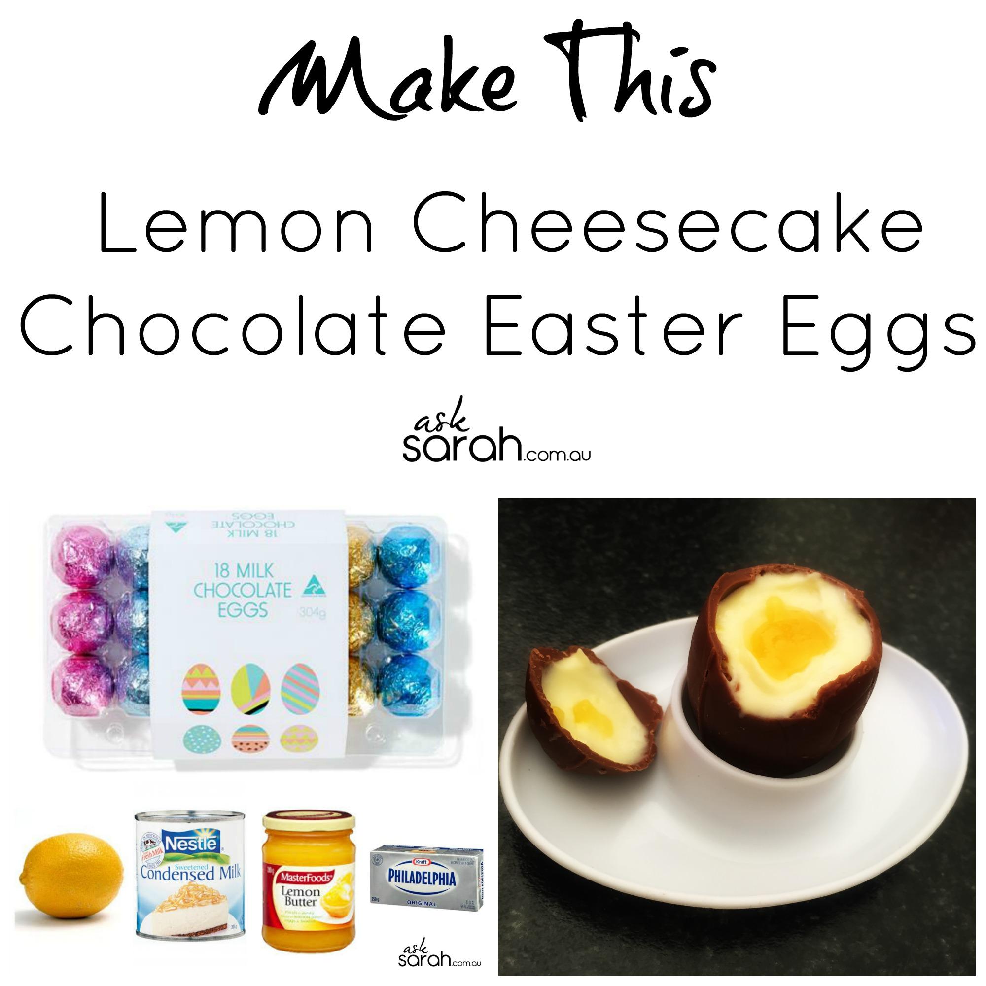 Recipe: Lemon Cheesecake Chocolate Easter Eggs {Only 5 Ingredients & Easy Too!}