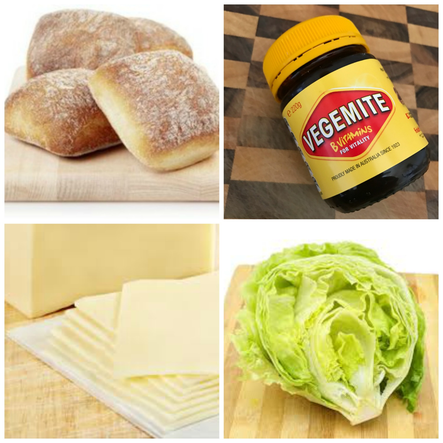 Cheese, Vegemite & Lettuce