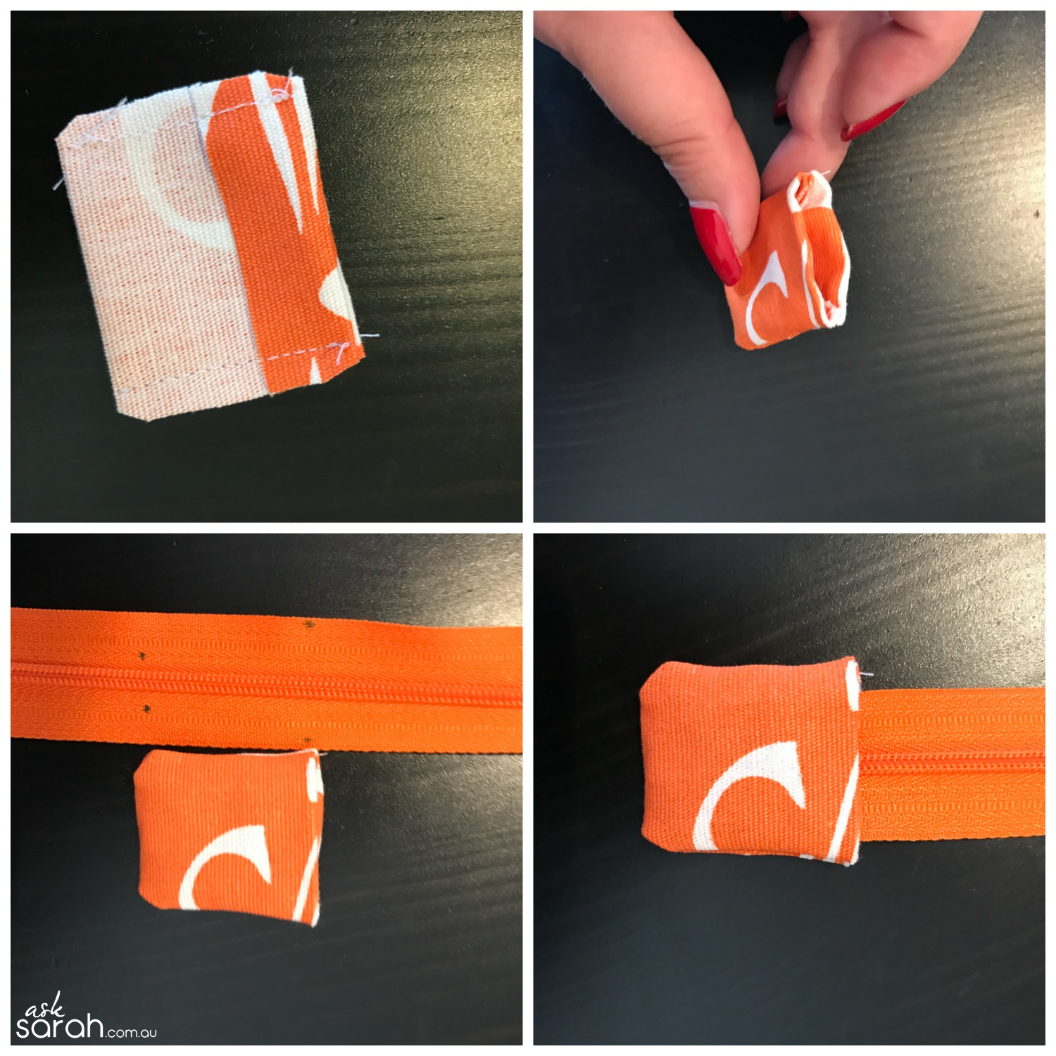 Sew How To Add A Tab To A Zipper {And How Shorten It Too} Step 2