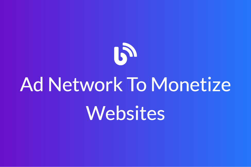 Ad Network To Monetize Websites