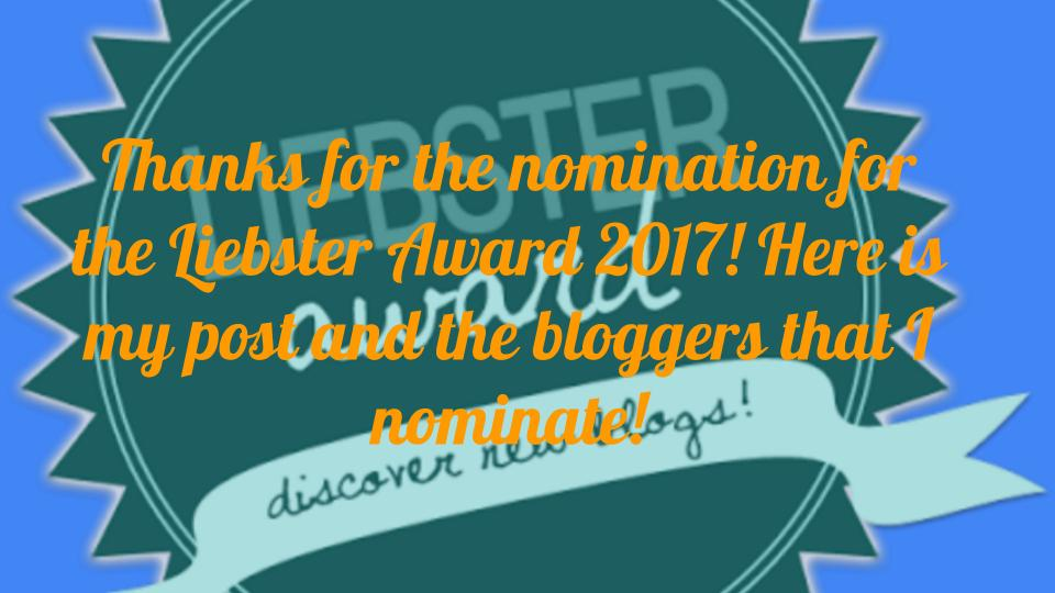 Liebster Blog Award 2017 Nomination