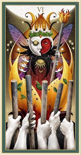Six of Wands - Deviant Moon