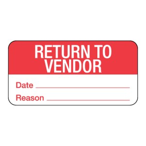 Return to Vendor Label