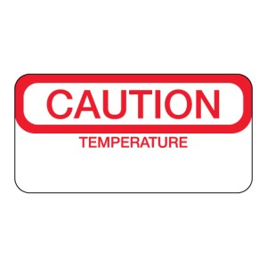 Caution Temperature Label