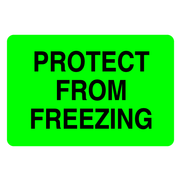 Protect From Freezing Label