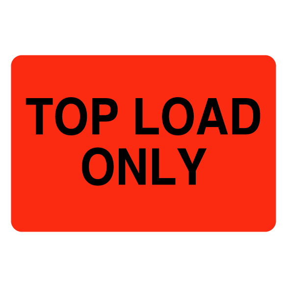 Top Load Only Label