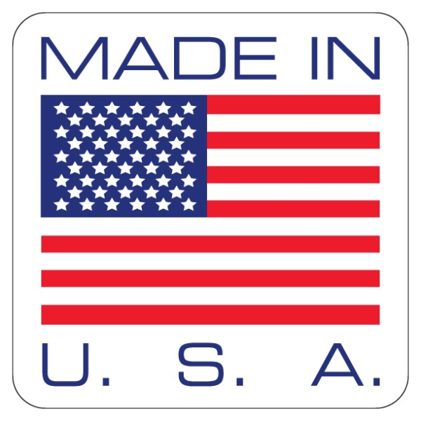 """Made In USA Label 4"""" x 4"""""""