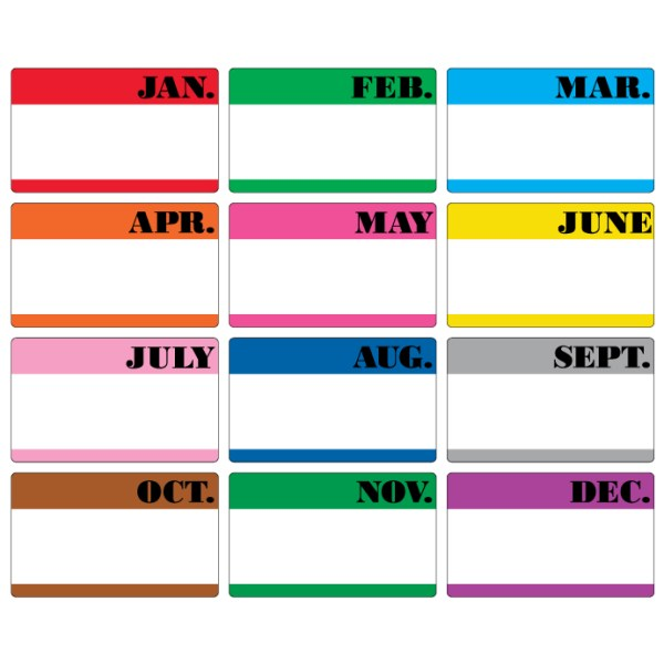 """3"""" x 5"""" Month of the Year Labels"""