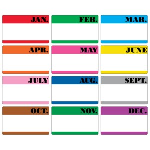 "3"" x 5"" Month of the Year Labels"