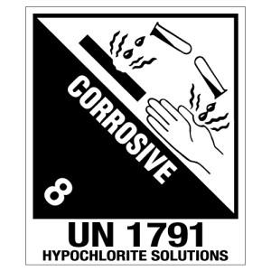 Corrosive Hypochlorite Solutions UN1791