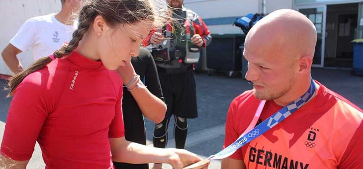 Tim Hecker : médaillé olympique en visite à Saint-Laurent-Blangy