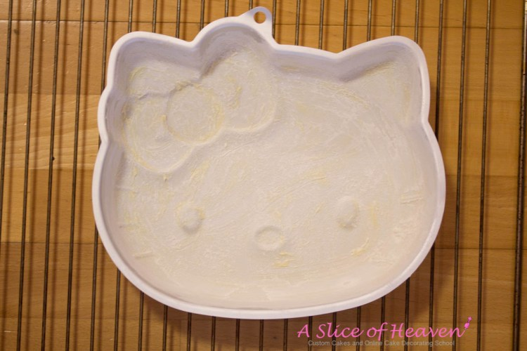 Greased and Floured Hello Kitty Pan | A Slice Of Heaven
