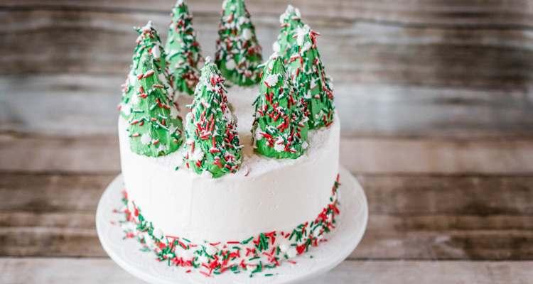 Ice Cream Cone Christmas Tree Cake