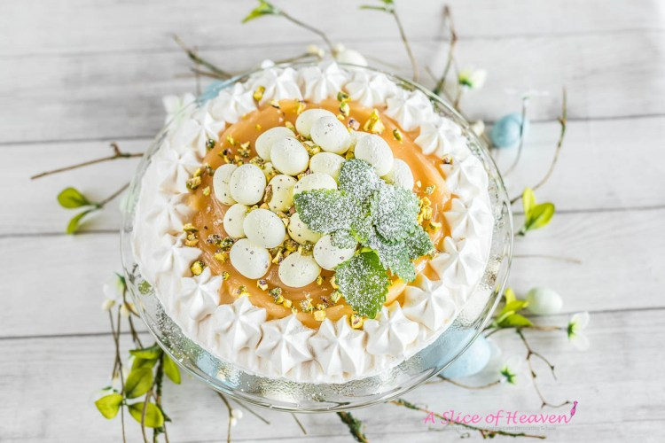 The Easiest Ever Lemon Curd Pavlova | A Slice of Heaven