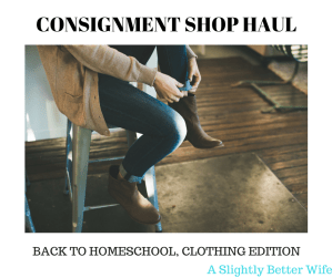 Consignment Shop Haul: Back to Homeschool, Clothing Edition