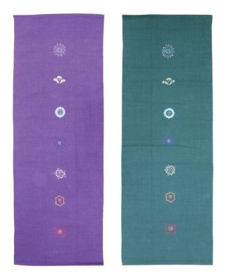 Cotton Yoga Rug - Chakra Pattern
