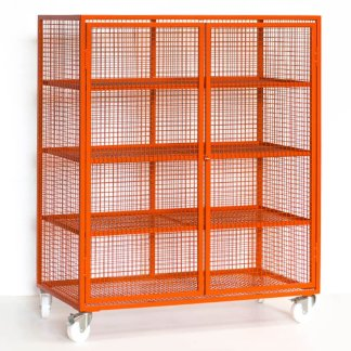 Mesh Lockable Storage Trolley (Large)