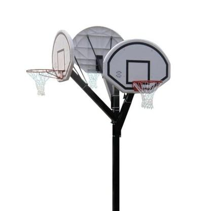 Heavy Duty In-ground Basketball Goal - Single with MDF Backboard
