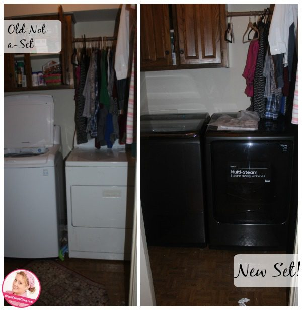 My Laundry Room Before And After And New Samsung Washer