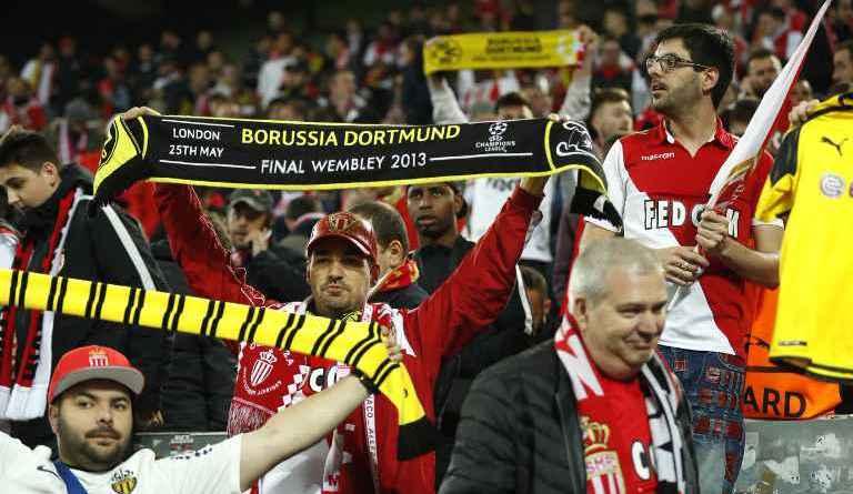 Supporters Dortmund Monaco