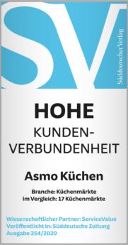 Hohe Kundenverbundenheit für ASMO Küchen vom Süddeutschen Verlag