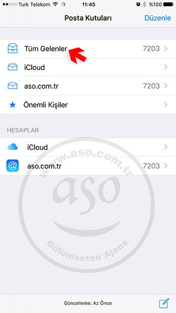 iphone ios email kurulum
