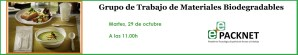 Próxima Reunión del Grupo de Trabajo de Materiales Biodegradables
