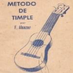 1954 Método de Timple Francisco Alcázar(Décima edición)
