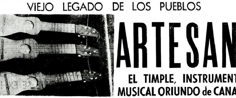 El Timple. Instrumento musical oriundo de Canarias