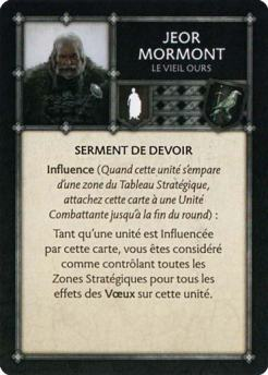 Jeor Mormont - Le Vieil Ours (Verso) FR