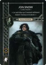 Jon Snow - Lord Snow (Recto) FR