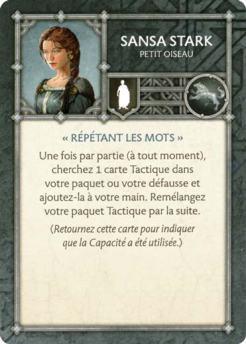 Sansa Stark - Petit Oiseau (Verso) FR