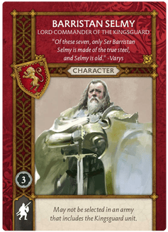 Barristan Selmy Lord Commander of the Kingsguard Recto
