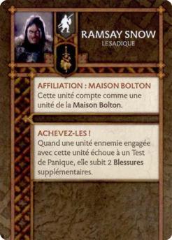 Ramsay Snow - Le Sadique (Verso) FR