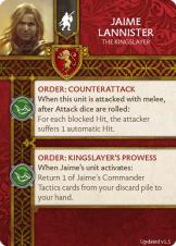 Jaime Lannister - The Kingslayer (Verso) 1.5 US