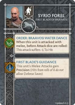 Syrio Forel - First Blade Of Braavos (Verso) 1.5 US